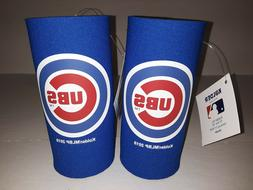 Chicago Cubs MLB 2 pack Ultra Slim Can Koozie cooler Hugger