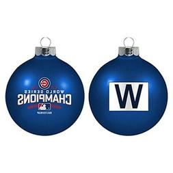 Chicago Cubs MLB 2016 World Series Champions Ornaments Blue