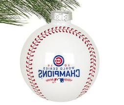 Chicago Cubs MLB 2016 World Series Champions Ornaments White