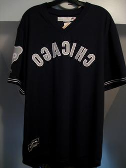 CHICAGO CUBS MLB MAJESTIC AUTHENTIC COOL BASE BLACK PULLOVER