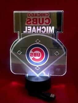 Chicago Cubs MLB Baseball Mirror Stadium Light Up Lamp LED R