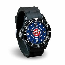 Chicago Cubs MLB Baseball Team Men's Black Sparo Spirit Watc
