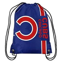 Chicago Cubs MLB Big Logo Side Stripe Drawstring Backpack Ba