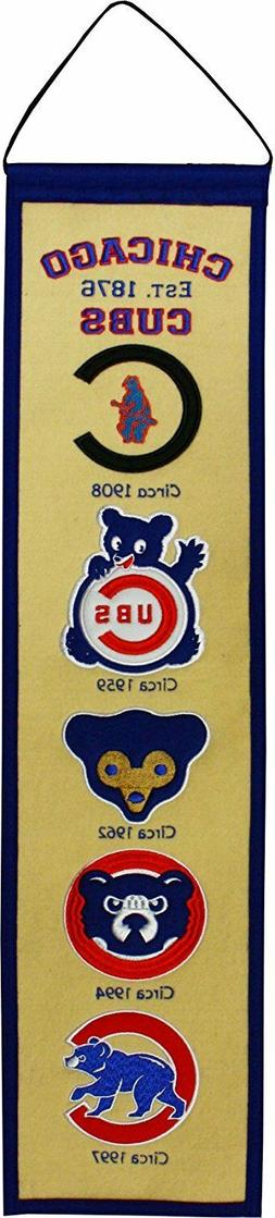 "Chicago Cubs MLB Fan Favorite Embroidered Heritage 32"" Banne"