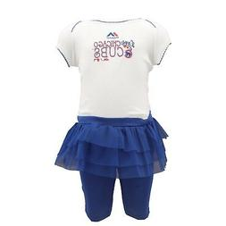Chicago Cubs MLB Majestic Girls Infant 2 Piece Creeper & Ski