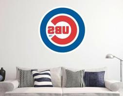 Chicago Cubs MLB Logo Baseball Custom Vinyl Wall Decals Peel