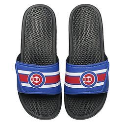 Chicago Cubs MLB Men's Stripe Legacy Sport Slide Flip Flop,S