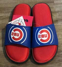 Foco Chicago Cubs MLB Mens M 9-10 Memory Foam Flip Flops San