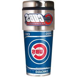 Chicago Cubs MLB  Stainless Steel 16oz Travel Tumbler Mug wi