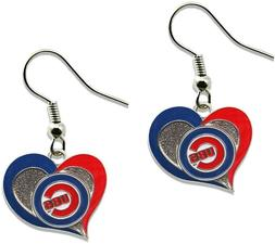 Chicago Cubs MLB Sports Team Logo Swirl Heart Shape French H
