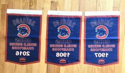 Chicago Cubs MLB World Series Champions 3 Banners/Flags 18.5