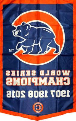 Chicago Cubs MLB World Series Championship Flag 3x5 ft Banne
