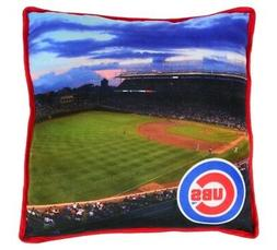 CHICAGO CUBS ~ Official MLB Licensed 15 Inch Square Throw Pi