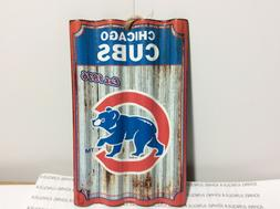"CHICAGO CUBS ORNAMENT METAL NEW WITH TAG 5"" BY 3"" SHIPS NOW"