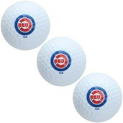 Chicago Cubs Pack of 3 Golf Balls