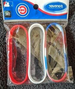 Chicago Cubs Pack of 3 Rubber Bracelets - Forever Collectibl