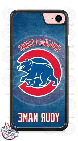 Chicago Cubs Baseball with NAME Phone Case Cover Fits iPhone
