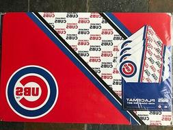 chicago cubs placemats and coasters set set