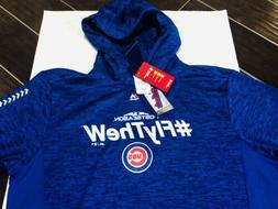 Chicago Cubs Majestic Post Season Hoodie Sweatshirt NWT Size