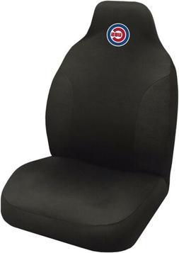 Chicago Cubs Premium Black Embroidered Auto Car Seat Cover E