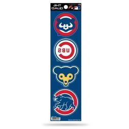 Chicago Cubs Retro - Set Of 4 Quad Sticker Sheet