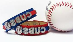 chicago cubs rhinestone bracelet 2016 world series