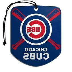 Chicago Cubs Shield Design Air Freshener 2 Pack  MLB Fresh C