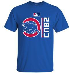 Chicago Cubs short sleeve Blue T-shirt For Men Size M-3XL