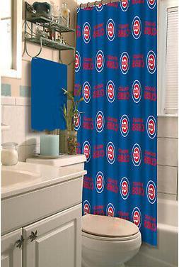 MLB Chicago Cubs Shower Curtain Waterproof Bathroom Accessor