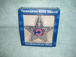 Chicago Cubs Sports Collector Series Silver Star Ornament