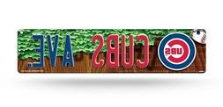 "Chicago Cubs Street Sign NEW 4""X16"" ""Cubs Ave."" Man Cave MLB"