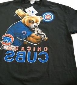 chicago cubs t shirt batting bear graphic