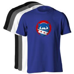 Chicago Cubs T-Shirt - Mad Cubbie Bear Bandana Shirt in choi