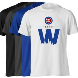 Chicago Cubs T-Shirt - World Series Champs Cubs Win W in 4 C