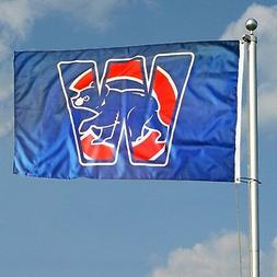 Chicago Cubs Team Logo Blue Win W Flag 3x5 foot Deluxe Indoo