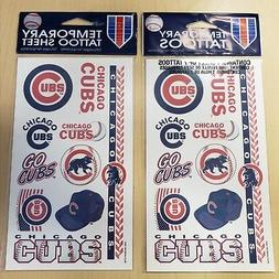 CHICAGO CUBS Temporary Tattoos for face body MLB baseball fa