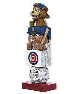 "Chicago Cubs Tiki Totem Pole 16"" Outdoor Home Garden Statue"