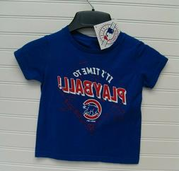 Chicago Cubs Toddler It's Time To Play Ball Shirt Size 3T NW