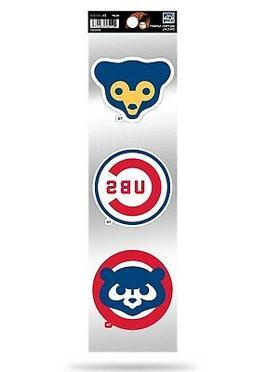Chicago Cubs Triple Retro Throwback Spirit Decals Sticker Sh