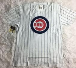 Chicago Cubs TShirt Extra Large XLG Needle Pinstriped Brass
