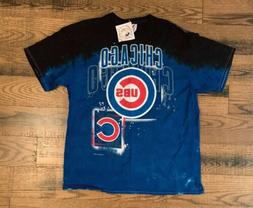 Chicago Cubs Tshirt Mens XL MLB Tie-Dye Short Sleeve Blue Bl