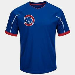 Chicago Cubs V-Neck Emergence Jersey Shirt 4XL Royal/Red Two