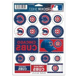 Chicago Cubs Vinyl Die-Cut Sticker Set / Decal Sheet *Free S