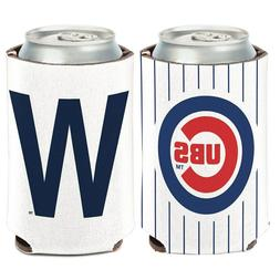 Chicago Cubs W Logo Can Cooler 12oz Collapsible Koozie - Two