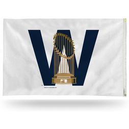 "Chicago Cubs ""W"" Trophy MLB Banner Flag  3' x 5'"