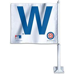 Chicago Cubs W and WIN Car Auto Window Flag