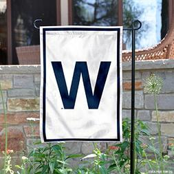 Chicago Cubs W Win Garden Flag and Yard Banner
