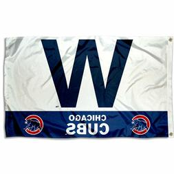 "Chicago Cubs Win ""W"" 3x5 Banner Flag"