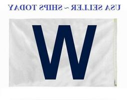 "CHICAGO CUBS Win ""W"" flag White and Blue Fly The W Wrigley 3"