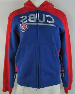 Chicago Cubs Women's Hands High Blue Full-Zip Hoodie MLB L